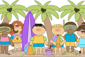 summer activities for kids clipart 3
