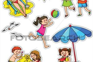 summer activities for kids clipart