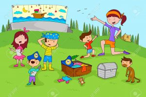 Children enjoying summer camp activities
