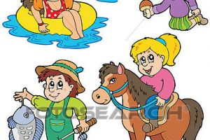 summer activities for kids clipart 5