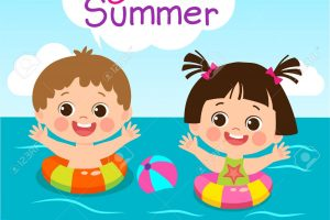 summer activities for kids clipart 6