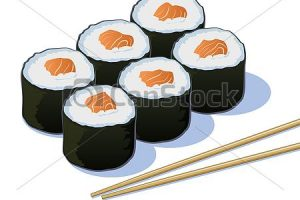 sushi roll clipart