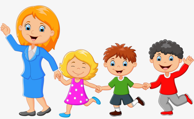 Teacher with students clipart 4 » Clipart Station