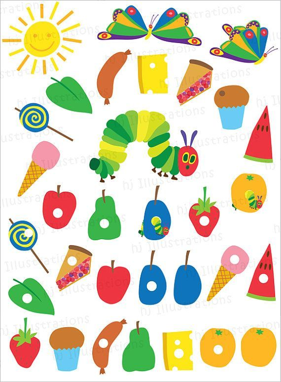 The Very Hungry Caterpillar Clipart 3 Clipart Station