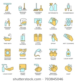 things we use to clean our body clipart clipart station