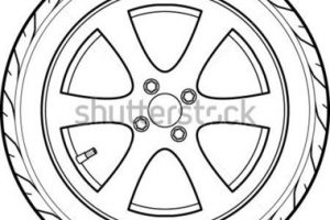 tire clipart black and white 5