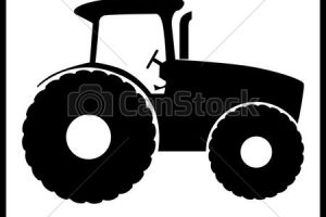 tractor silhouette clipart 2