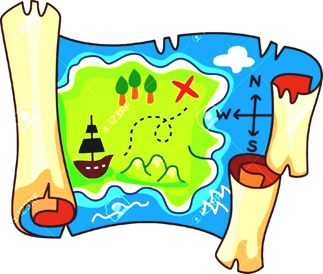 Image result for treasure map clipart