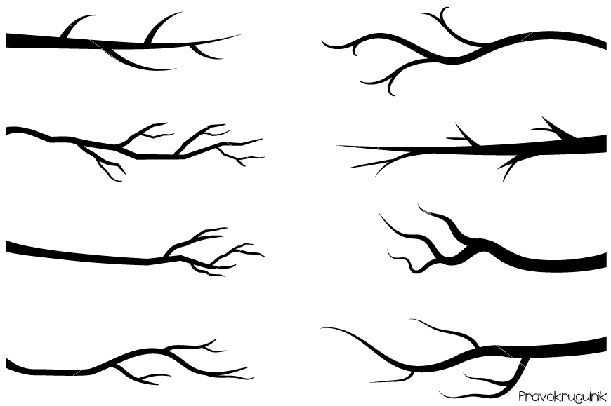 Tree Branch Clipart Black And White