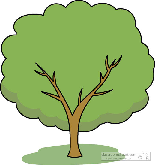 Trees summer. Seasonal tree green clipart