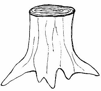 Nice Tree Trunk Clip Art tree trunk clipart black and ...