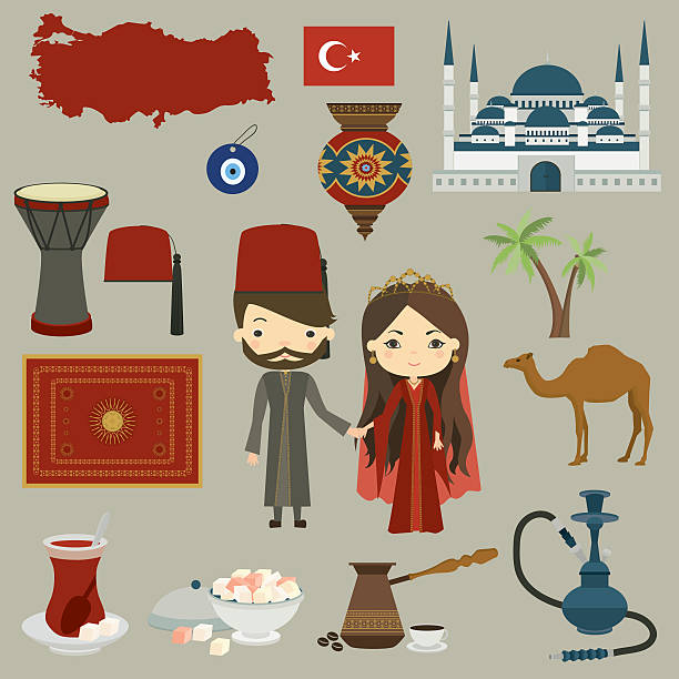 The symbols of Turkish culture  Vector set » Clipart Station