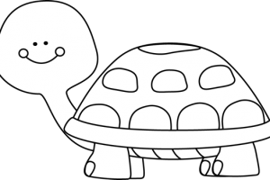 turtle black and white clipart