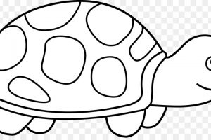 turtle black and white clipart 7