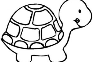 turtle clipart black and white 1