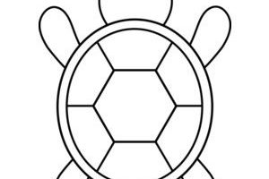 turtle clipart black and white 2