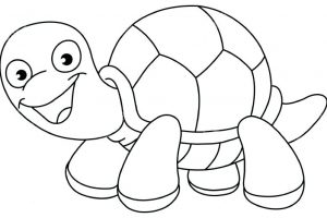 turtle clipart black and white 8