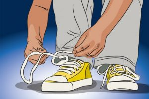 tying shoes clipart 3