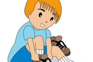 tying shoes clipart 4