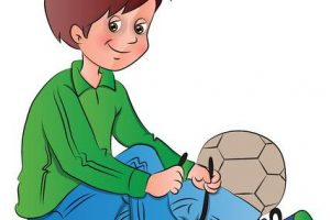tying shoes clipart 5
