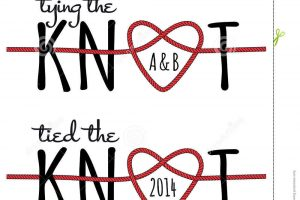 tying the knot clipart 5