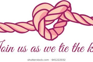 tying the knot clipart 8