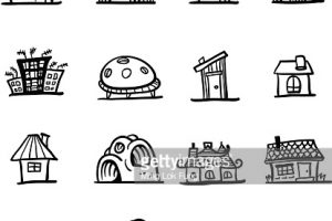 types of houses clipart 7