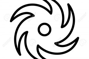 typhoon clipart black and white 5