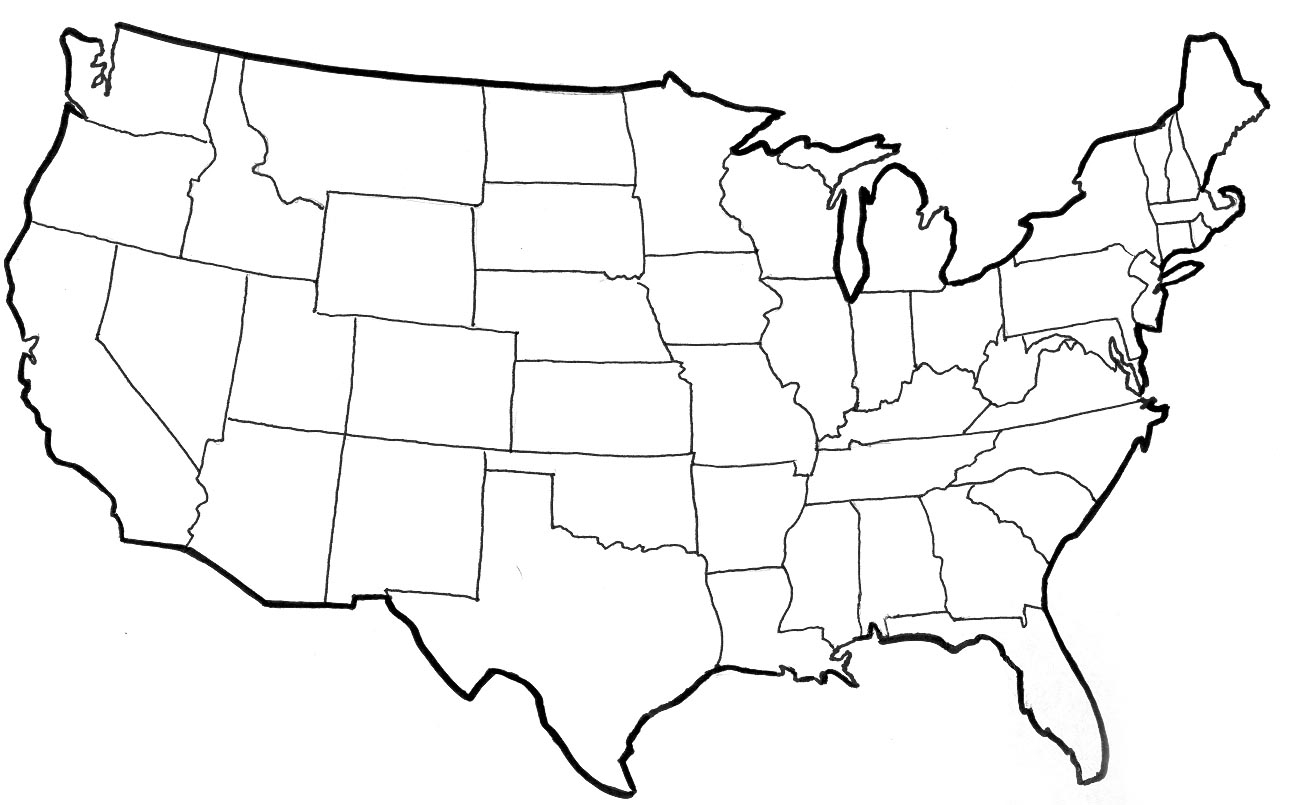United States Drawing United States Map Drawing Us Map Usa Map ...