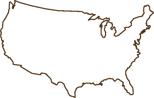 Blank Map Of The United States Of America Photo Free Clipart United