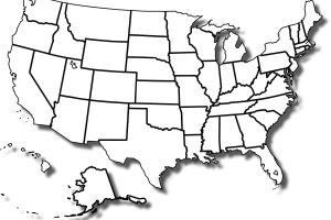 usa clipart black and white 4
