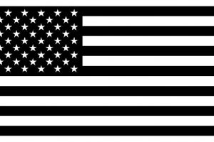 usa flag clipart black and white 1