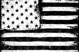 usa flag clipart black and white 3