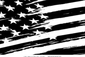usa flag clipart black and white 4