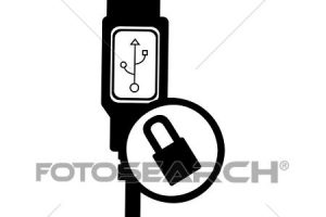 usb cable clipart 3