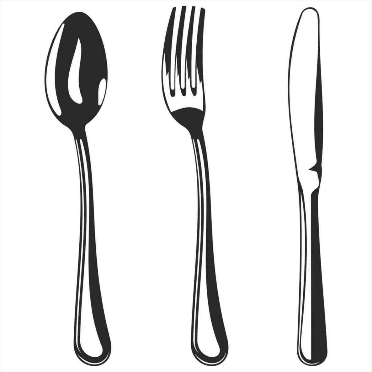 Stunning Color The Kitchen Utensils Clipart Black And White Culinary