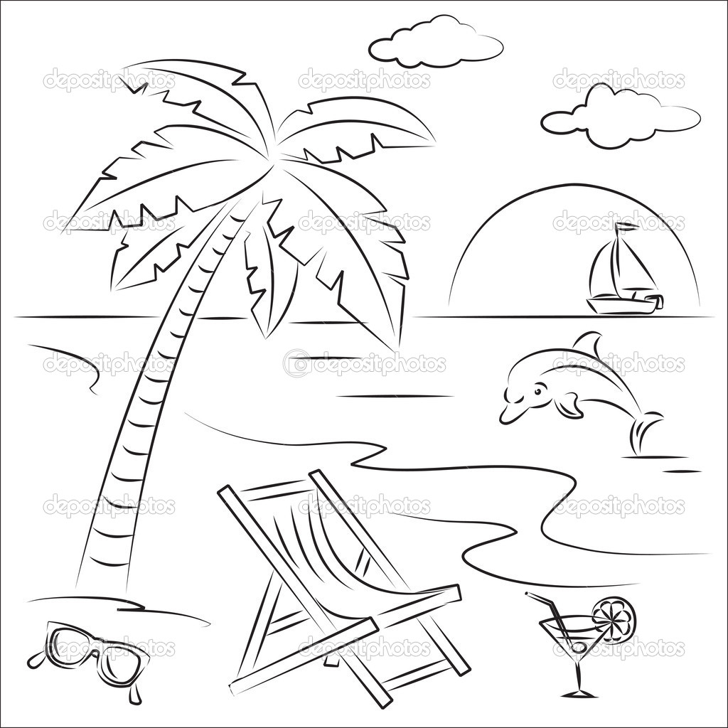 Summer Scene Coloring Pages Awesome Beach Scene Coloring Pages 37