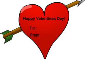 valentines card clipart