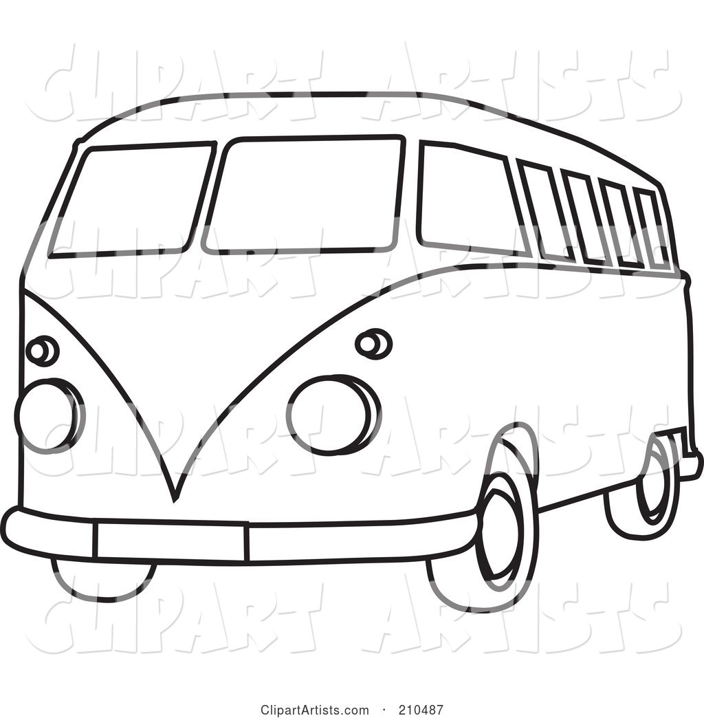 Van Black And White Clipart 4 Clipart Station