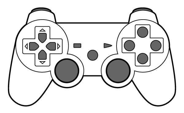 Video Game Clipart Black And White Pencil And In Color