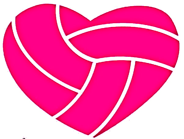 Volleyball heart. Clipart station