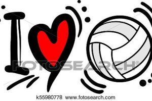 Volleyball Heart Decal 275″ White/black 1 Per Sheet - Volleyball Heart  Decal 275″ White/black 1 Per Sheet - Free Transparent PNG Clipart Images  Download