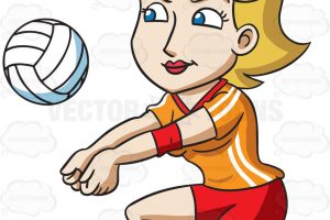 volleyball players clipart hitting 8