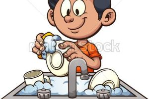 wash dishes clipart