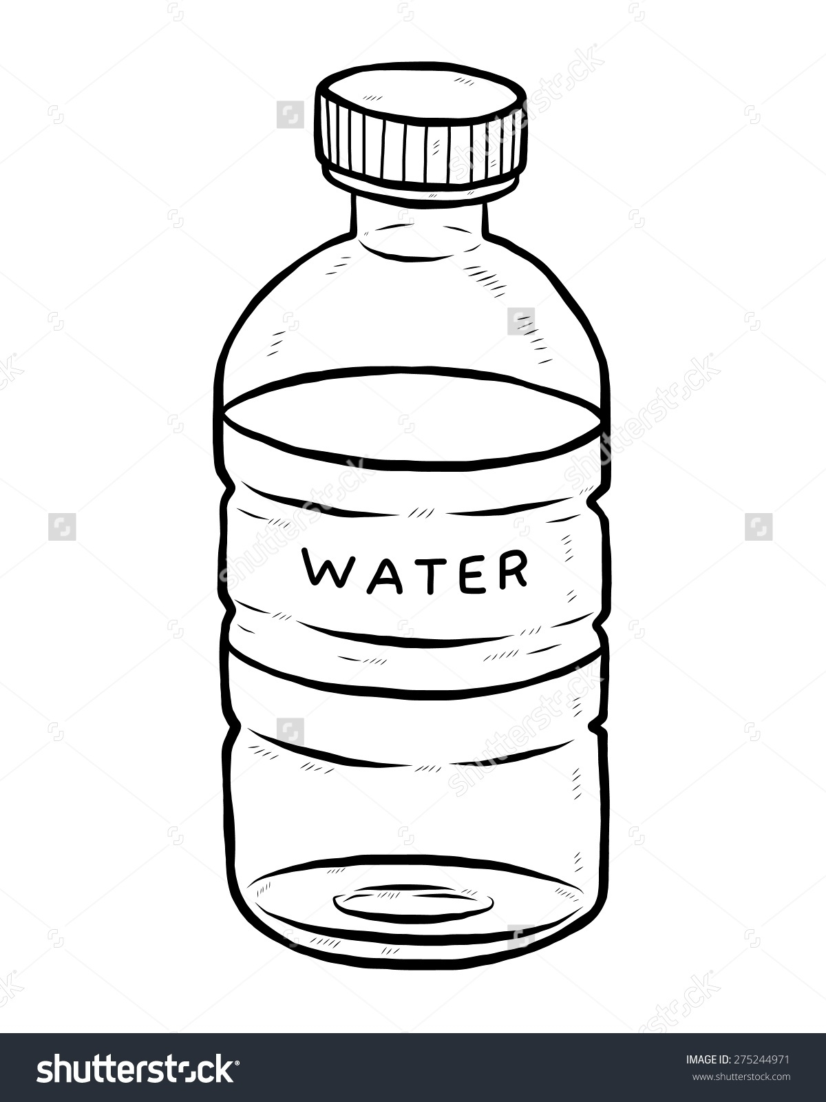 Water Bottle Clipart Black And White 2   Clipart Station ...