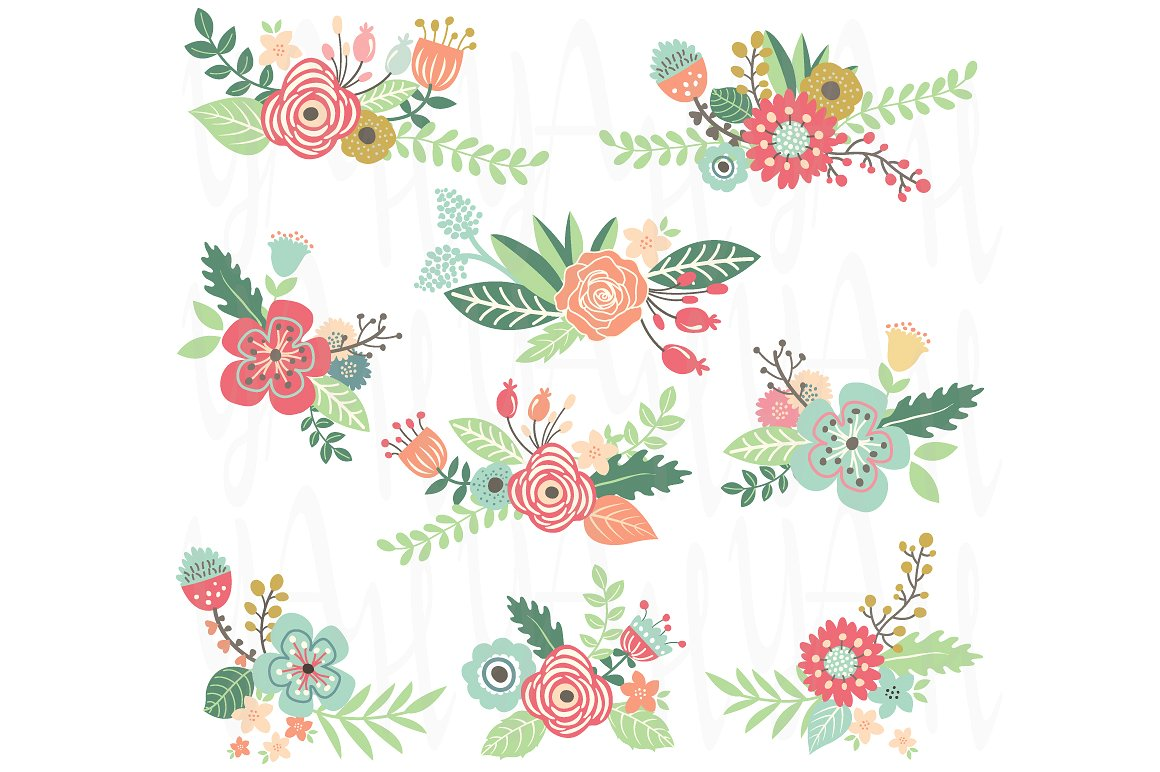 Wedding Floral Clipart 6 Clipart Station