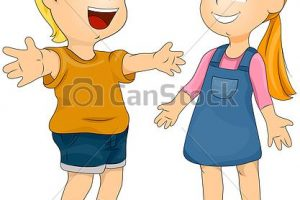 welcome girl clipart 1
