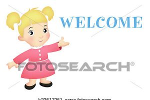 welcome girl clipart 4