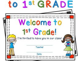 welcome to first grade clipart 1