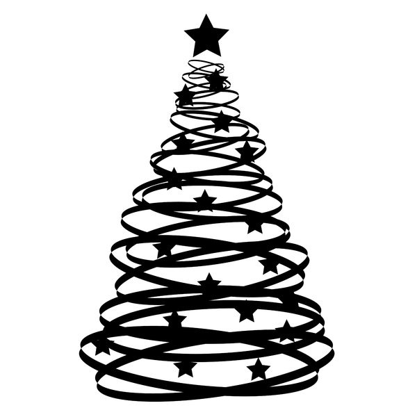Best Christmas Tree Clipart Black And White 14645 Clipartion
